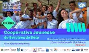 Inauguration Palanquée : stand Coopérative Jeunesse de Services de Sète